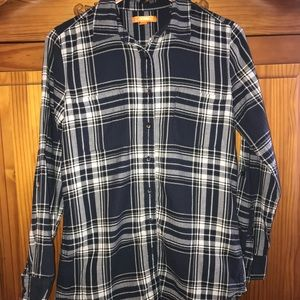 JOE FRESH WOMENS PLAID SHIRT
